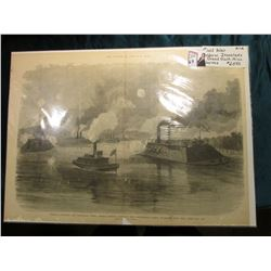 "21 5/8"" x 15 5/8"" Appears to be a Woodcut Print from the magazine ""The Soldier in our Civil War."", o"