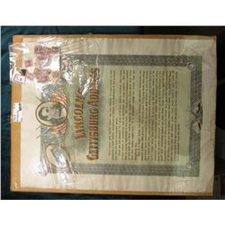 "Copyrighted by Umbdenstock & Porter Co. 1909 - Chicago ""Lincoln's Gettysburg Address"" frame able wit"