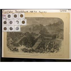 "(10) Different Indian Head Cents dating 1885-1908 & 11"" x 16"" Wood-cut lithograph from the book ""The"