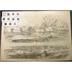 "15 1/2"" x 21 3/4"" Wood-cut lithograph from the book ""The Soldier in our Civil War"" depicting ""Before"