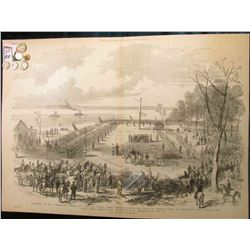 "15 1/4"" x 21 1/4"" Wood-cut lithograph from the book ""The Soldier in our Civil War"" depicting ""Surren"