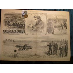 "15 1/4"" x 21 1/4"" Wood-cut lithograph from the book ""The Soldier in our Civil War"" depicting ""Milita"