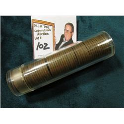 1944 D Toned Roll of U.S. Wheat Cents, all appear to be EF or better.