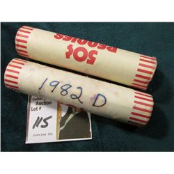 1981 P & 82 D (bank wrapped roll, but not sure of variety) Original Uncirculated Rolls of U.S. Linco