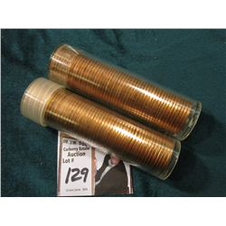 1969 S & 74 D Original Uncirculated Rolls of U.S. Lincoln Cents. Maybe an occasional carbon speck in