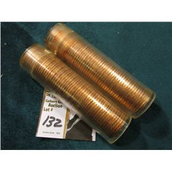 1974 P & 74 D Original Uncirculated Rolls of U.S. Lincoln Cents. Maybe an occasional carbon speck in