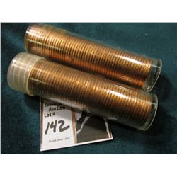 1976 P & 80 D Original Uncirculated Rolls of U.S. Lincoln Cents. Maybe an occasional carbon speck in