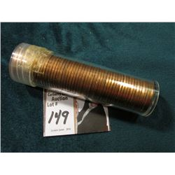 1950 P Original Uncirculated Roll of U.S. Wheat Cents. Maybe an occasional carbon speck in this roll