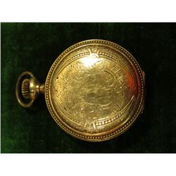 """FAHYS14K Montauk"" Size 2. Ladies Hunting Case for a Pocket Watch. Appears to have been tested for g"