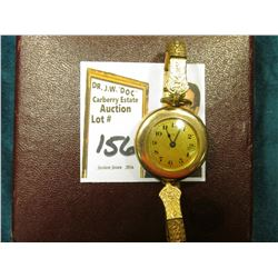 "Ladies ""Elgin"" Gold-filled Wristwatch in an antique Box. Running condition at this time."