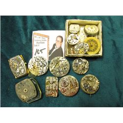 Large group of old Watch Movements. No guarantees as to whether any work.
