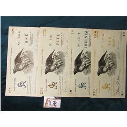 "4-Pc. Set ""Re-Issued 5 July 1938"", ""The George Junior Republic Freeville, N.Y."" ""Series of 1935 This"
