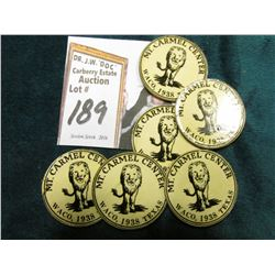 "(6) 25c Card stock Tokens: ""Mt. Carmel Center Waco, 1938 Texas"", later home of the ""Branch Davidians"