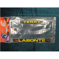 """Terry Labonte"" 1989-1999 10 Years Racing Champions License Plate Frame in original Nascar holder. M"