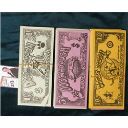 "Large Group of ""Doggy-Dough"" 1, 5, & 10 Biscuit Notes. This Doggy Money was used at Wichita Grey Hou"