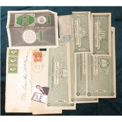 1917 & 1919 Postmarked envelopes with several One Cent George Washington Stamps addressed to Conesvi