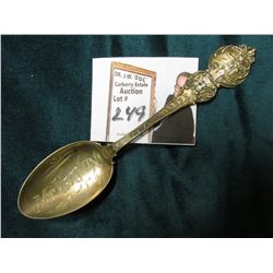 """Mt. Vernon, Iowa"" Souvenir Spoon stamped on the reverse ""Sterling"", engraved with a ""K"" and ""1911""."