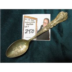 """Chapel Cornell/College/Mt. Vernon, Ia"" Souvenir Spoon stamped on the reverse ""Sterling""."