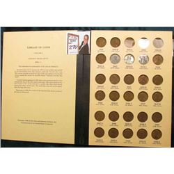 1941-76 Nearly complete Set of Lincoln Cents in a Library of Coins album. Circulated.