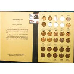 1941-61 Nearly complete Set of Lincoln Cents in a Library of Coins album. All are Unc to BU. (55 pcs