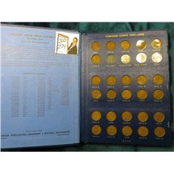 1941-74 Nearly complete Set of Lincoln Cents in a Whitman Coin album. Circulated.