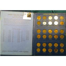 1941-61 Nearly complete Set of Lincoln Cents in a Whitman Coin album. Circulated.