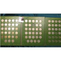 1938-68 Nearly complete Set of High Grade Jefferson Nickels. Missing the 1949S, 68P, D. Includes the