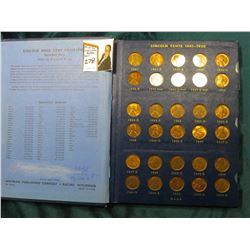1941-65 Nearly complete Set of Lincoln Cents in a Whitman Coin album. Circulated. Many BU.