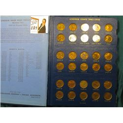1941-76 Nearly complete set of Lincoln Cents in a Whitman album. Some BU.
