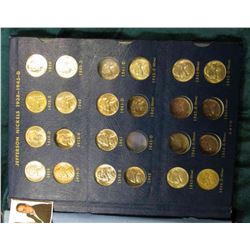 1938-64 Partial Set of Jefferson Nickels, all BU and in a Whitman Coin Album. Includes: 1938P, D, S,
