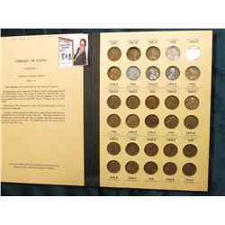 1941-61 Complete Set of Lincoln Cents in a Library of Coins album.
