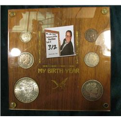1899 U.S. Birth Year Set in Special Holder. Includes 1899 Cent, Nickel, Barber Dime, Barber Quarter,