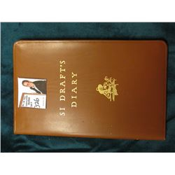 """Si Draft's Diary"", by Howard M. Railsback, Copyright 1951 by Deere & Co. Moroccan leather, Mint con"