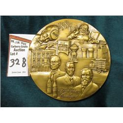 "1886-1986 Coca-Cola Distributor Large Bronze Medal, 3"" x 1/4"", depicts 100 Centennial Celebration bo"
