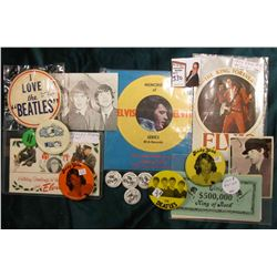 Large Group of Elvis, Beatles, The Rivetts, and etc.  Memorabilia and scrip.