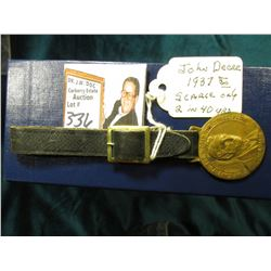 """He Gave to the World The Steel Plow/John Deere"", rev. ""John Deere 1837/1937 Centennial"" Brass Watch"