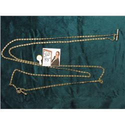 Men's Fancy Link Pocket Watch Chain. 62""