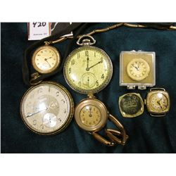 Hamilton Open face Pocket Watch, (wound too tight), 14K Gold-filled, Model 912, staff doesn't appear