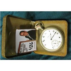 Elgin National Watch Company Open Face Pocket Watch in Silverode case. Running condition Probably 7