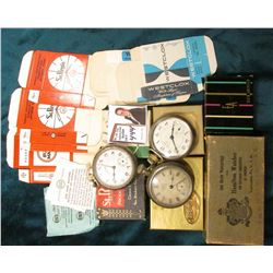 """Elgin American"" Box with felt bag and literature; St. Regis New Thin Model Pocket Watch Box with pa"
