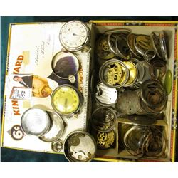 King Edward Cigar Box full of old Watch cases and parts. Nothing spectacular.