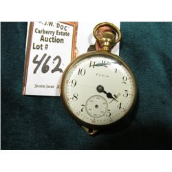 Small Open face Elgin Pocket Watch. Hands are lose inside. Never tested.