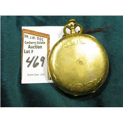 "A.W.W. Co. Waltham Hunting Case Pocket Watch. Runs but appears to stop occasionally. Case marked ""Gu"