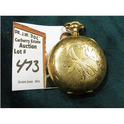 "Small Ladies size Hunting Case Pocket Watch ""American Waltham Watch Co."", Engraved. Not running. 25"