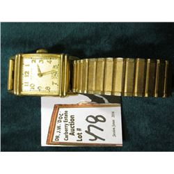 Hamilton Men's Wrist watch. Gold-filled case and band. Runs.