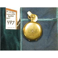 "Small Ladies size Hunting Case Pocket Watch ""American Waltham Watch Co."", Diamond inset in case. No"