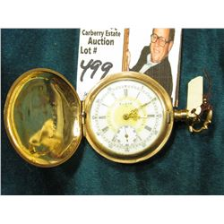 "Small Ladies size Hunting Case Pocket Watch ""Elgin Watch Co."", very colorful dial, engraved ""Lola Ba"