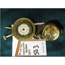 Clunker Watch without Crystal; &  Elbon  Round Watch with glass over movement in running condition.