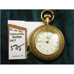 Highly engraved Open Face American Waltham Watch Co. Pocket Watch. Not running.
