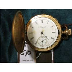 """Elgin National Watch Co."" Watch in Hunting case. 16 Jewels, No crystal Case marked ""25 Years"". Runs"